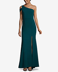 XSCAPE One-Shoulder Gown