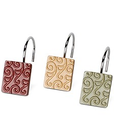 Inspire 12-Pc. Hand-Painted Shower Curtain Hook Set