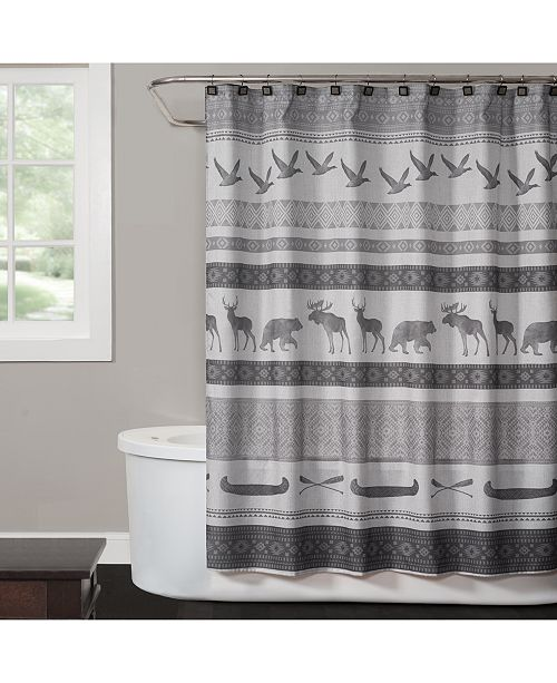 "Saturday Knight Wilderness Calling 70"" x 72"" Graphic-Print Shower Curtain"