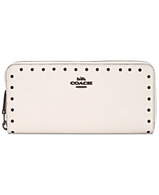 COACH Slim Accordion Zip Wallet in Pebble Leather