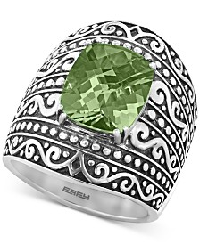 EFFY® Green Quartz Scrollwork Statement Ring (5-3/8 ct. t.w.) in Sterling Silver