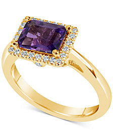 Amethyst (1-5/8 ct. t.w.) & Diamond (1/6 ct. t.w.) Ring in 14k Gold