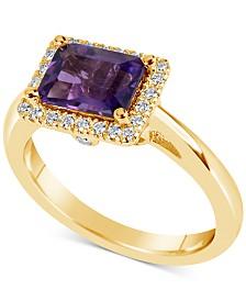 Amethyst (1-5/8 ct. t.w.) & Diamond (1/6 ct. t.w.) Ring in 14k Gold