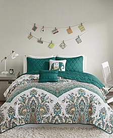Tulay Reversible 5-Pc. Full/Queen Quilted Coverlet Set