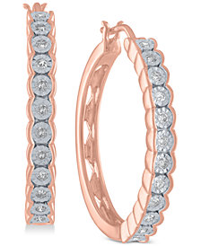 Diamond Hoop Earrings (1/4 ct. t.w.)