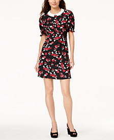 Maison Jules Printed Peter-Pan-Collar Dress, Created for Macy's