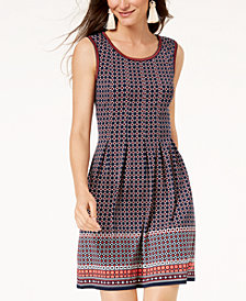 Maison Jules Sleeveless Printed Dress, Created for Macy's