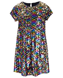 Beautees Big Girls Reversible Sequin Swing Dress