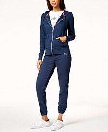 Tommy Hilfiger Zip-Front Hooded Sweatshirt & Skinny Sweatpants, Created for Macy's