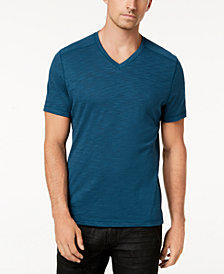 I.N.C. Men's Ribbed V-Neck T-Shirt, Created for Macy's