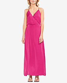 Vince Camuto Wrap-Front Rumple Maxi Dress