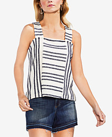 Vince Camuto Fringe-Striped Top
