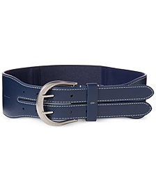 Lauren Ralph Lauren Plus-Size Equestrian Double-Prong Stretch Belt