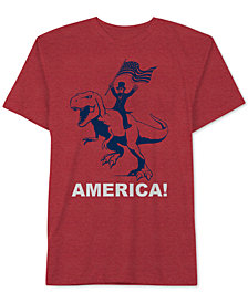 Lincoln Riding A T-Rex Men's T-Shirt by Hybrid Apparel
