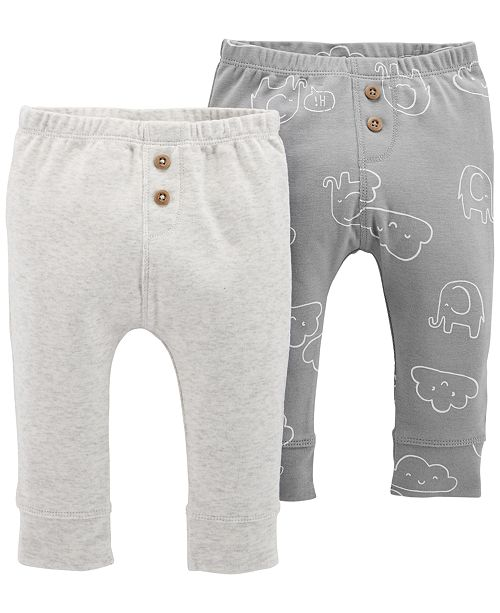 e9063b4524 Carter's Baby Boys or Baby Girls 2-Pack Cloud-Print Cotton Jogger ...