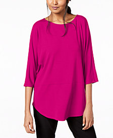 Eileen Fisher Stretch Jersey 3/4-Sleeve Top, Regular & Petite