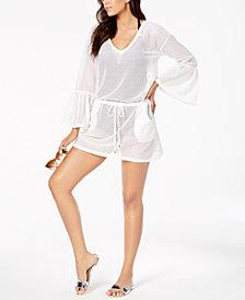 Calvin Klein Sheer Bell-Sleeve Cover-Up