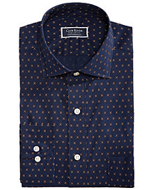 Club Room Men's Slim Fit Performance Stretch Foulard Print Dress Shirt, Created for Macy's