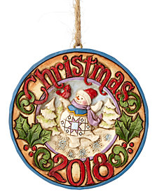 Jim Shore Snowman Dated 2018 Ornament
