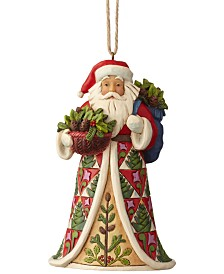 Jim Shore Pinecone Santa Ornament