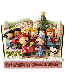 Jim Shore Peanuts Christmastime Storybook Figurine