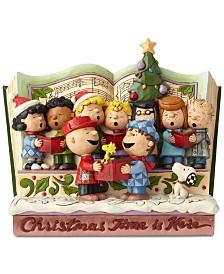 Jim Shore Peanuts Christmastime Storybook Figurine