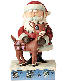 Jim Shore Santa Hugging Rudolph Figurine