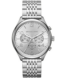 Michael Kors Men's Chronograph Merrick Stainless Steel Bracelet Watch 42mm