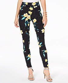 Thalia Sodi Floral-Print Leggings, Created for Macy's