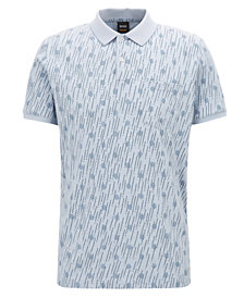 BOSS Men's Relaxed-Fit Graphic-Print Cotton Polo