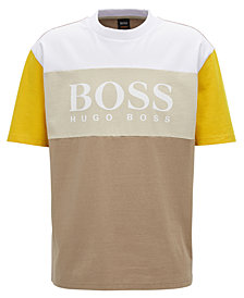 BOSS Men's Oversize-Fit Logo-Graphic Cotton T-Shirt