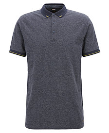 BOSS Men's Denim-Look Polo