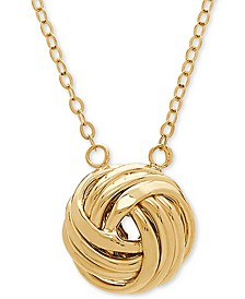 "Love Knot 18"" Pendant Necklace in 14k Gold"