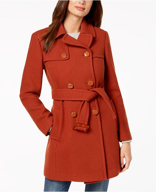 d0a45ebd66c6 kate spade new york Double-Breasted Coat   Reviews - Coats ...