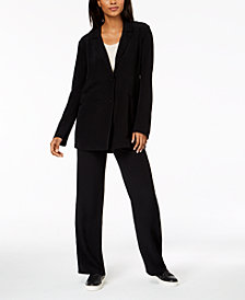 Eileen Fisher Tencel® Crepe Notch-Collar Jacket
