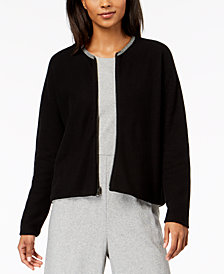 Eileen Fisher Organic Cotton Cardigan in Regular & Petite Sizes