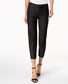 Anne Klein Extend-Tab Cropped Pants
