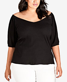 City Chic Trendy Plus Size Melodie Ribbed Top