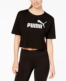 Cotton Cropped Logo T-Shirt