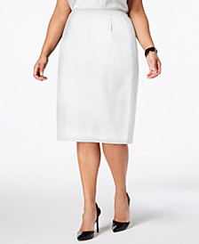 Plus Size Skimmer Skirt