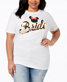 Disney Plus Size Cotton Bride Minnie Mouse T-Shirt