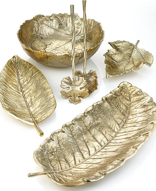 Martha Stewart Collection CLOSEOUT! Serveware, Park Leaves Gold Collection