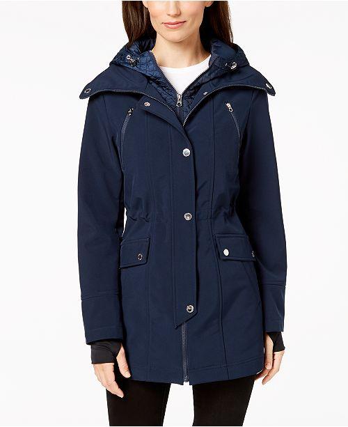 a2c1a1a0eaf1 Nautica Hooded Raincoat   Reviews - Coats - Women - Macy s