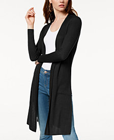 I.N.C Petite Ribbed Duster Cardigan, Created for Macy's