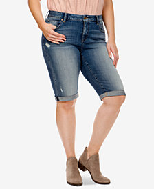 Lucky Brand Trendy Plus Size Bermuda Denim Shorts