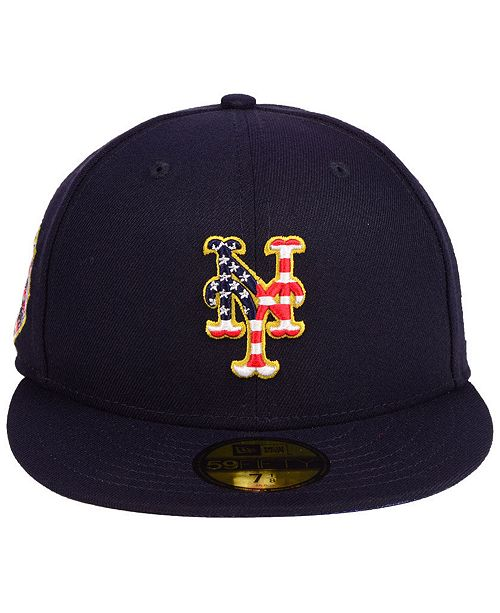 New Era New York Mets Stars and Stripes 59FIFTY Fitted Cap - Sports ... 24082ffb877