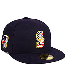 New Era Boys' Seattle Mariners Stars and Stripes 59FIFTY Fitted Cap