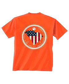 New World Graphics Men's Clemson Tigers Flag Fill T-Shirt