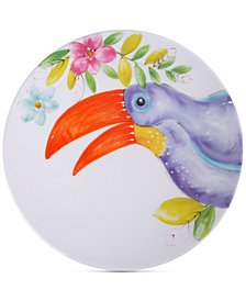 CLOSEOUT! Laurie Gates Toucan Dinner Plate, First at Macy's