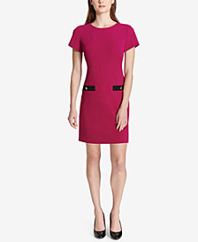 Tommy Hilfiger Faux-Pocket Shift Dress